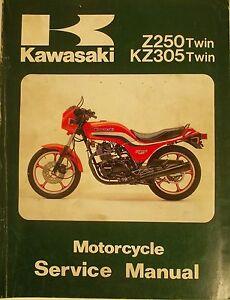 genuine kawasaki z250 kz305 twin service manual ebay rh ebay com Kawasaki Z650 Kawasaki Z650