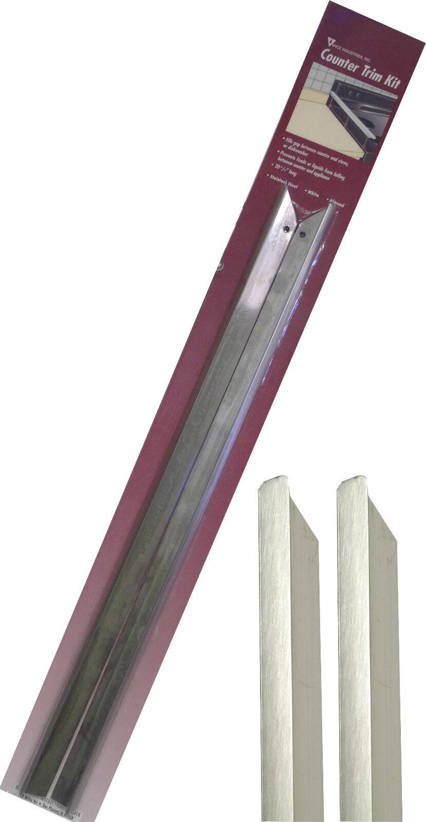 Vance Long Stainless Steel Counter Trim Kit for Backless/Slide-in Stoves, 23-3/4
