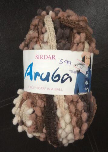 0805 Marron Sirdar ARUBA froncée écharpe Laine à Tricoter//Fils 100 g
