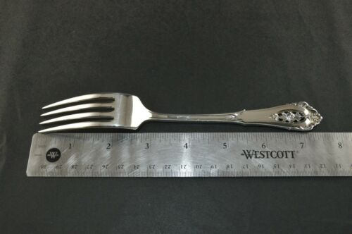 "7 5//8/"" Wallace Rose Point Sterling Silver Dinner Fork"