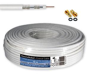 10-m-SAT-Kabel-Koaxialkabel-120-dB-Antennenkabel-4-fach-geschirmt-2-F-Stecker