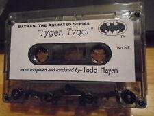VERY RARE PROMO Batman The Animated Series CASSETTE TAPE Tyger Tyger tv score DC