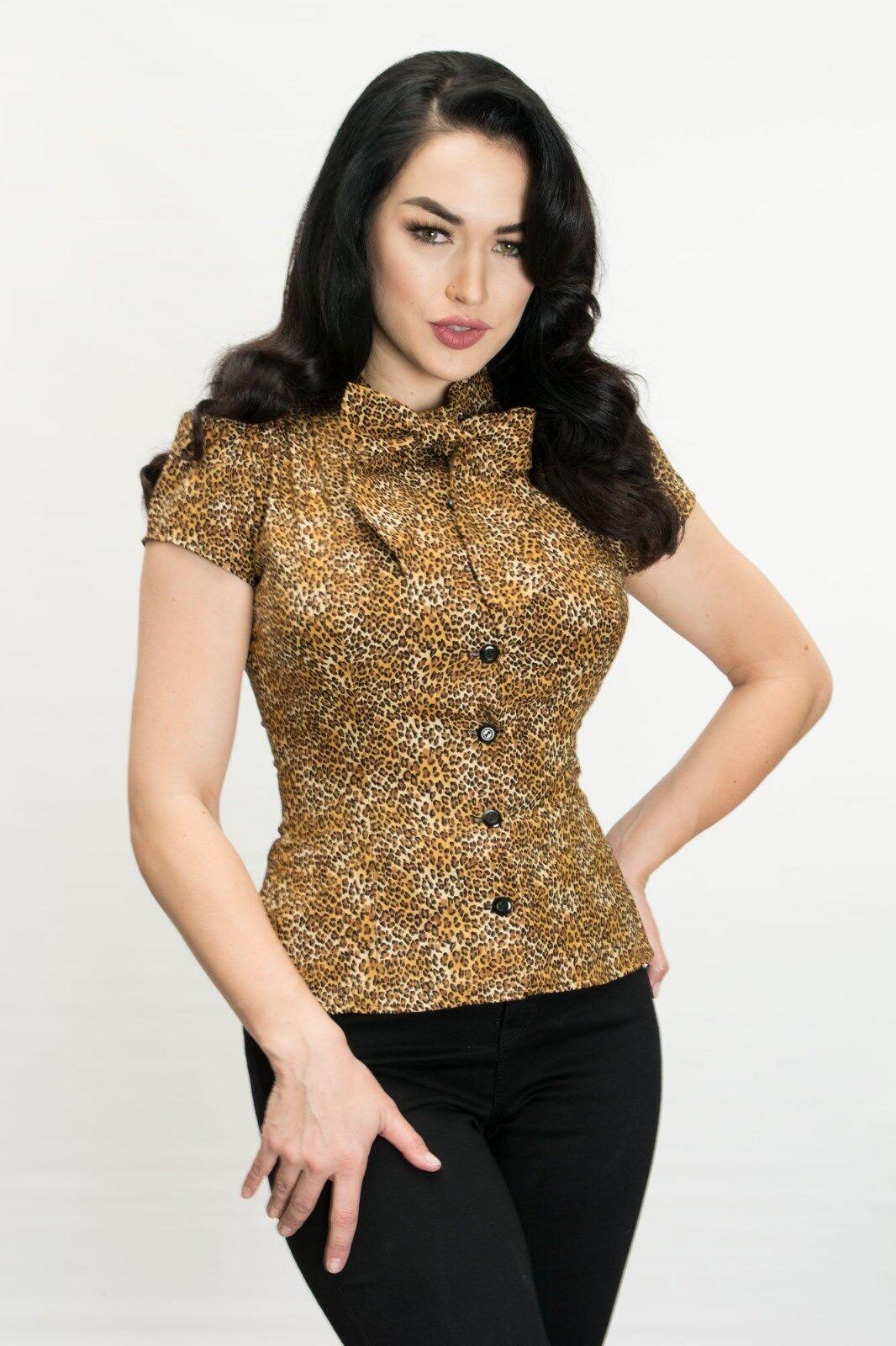 Heart Of Haute Estelle USA 12.2ms Inspiration Kurzärmelige BlauSE Leopard M