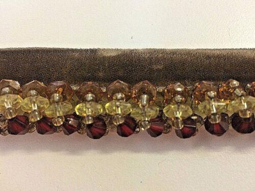 Verre Boucle Perles tailler quatre couleurs