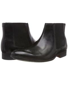 Clarks Mens Boots Gilmore Chelsea Black Leather