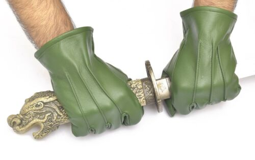 Mens Leather Dress Gloves Formal-Victorian//Mourning-Steampunk-Medieval