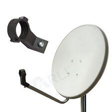 80cm HD SAT Anlage Digital SINGLE LNB 1 Teilnehmer Schüssel Antenne Spiegel 4K G