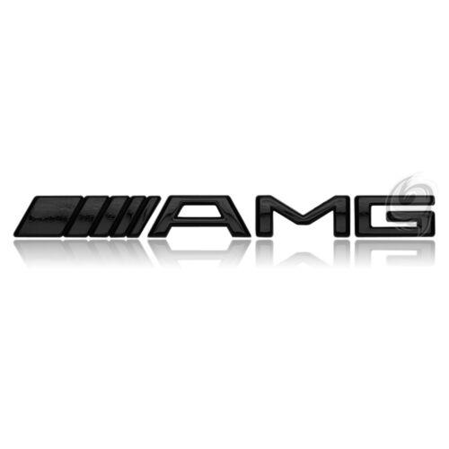 e Letras cheers Mercedes AMG emblema logotipo badge motor Black tuning chip a M S sl b c