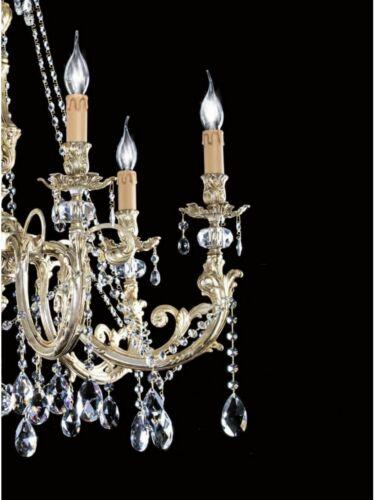Leuchter Klassisch Messing Blatt Silber Und Kristall Tp 136-LA-6-03
