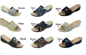 Women-Sandals-comfort-slide-wedge-light-weight-Sizes-6-7-8-9-10-11
