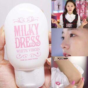Milky dress the white whitening.