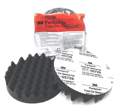 "3M-05726 3/"" PERFECT-IT BLACK HOOK-IT FOAM PAD//COMPOUNDING PAD 2-PACK 3M-5726"