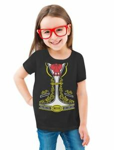 Mexican-Mariachi-Charro-Halloween-Costume-Toddler-Kids-Girls-039-Fitted-T-Shirt