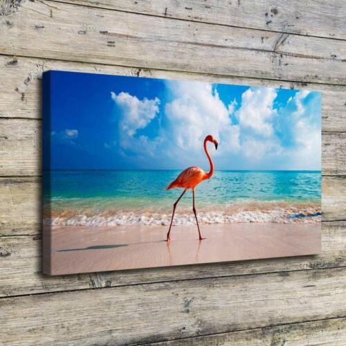 "12/""x22/'' Flamingo Bird Beach HD Prints Canvas Home Decor Room Wall Art Picture"