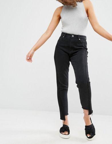 Brand New Monki Women Ladies Kimomo two Tone Black Jeans All Sizes.