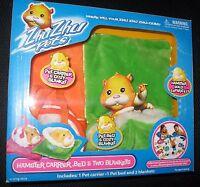 Zhu Zhu Pets Blanket Carrier Bed Hamster Cepia Orange Green 2008