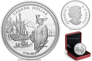 2018-Canada-1-Dollar-Fine-Silver-Proof-240th-anniv-Captain-Cook-NO-TAX
