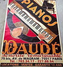 PIANOS DAUDE  French 1970's Original Vintage Poster