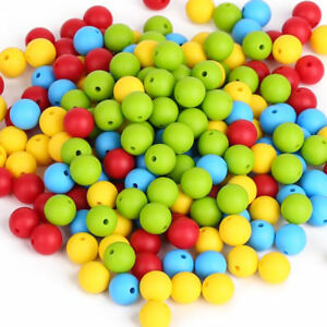 Wholesale Loose Round Teether Silicone Beads DIY Baby Teething Chewable Toys