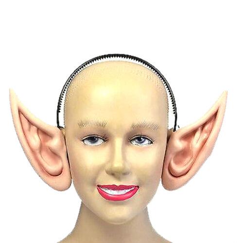New Unisex Elf Fancy Dress Party Accessory Fake Pixie Rubber Ears On Headband