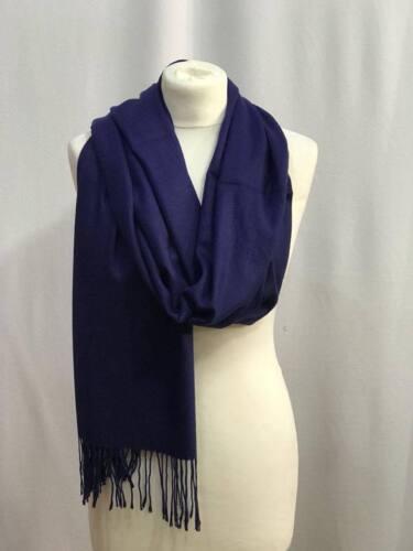 Donna Inverno Caldo PASHMINA Cashmere Seta solido lungo sciarpa scialle Wrap Big