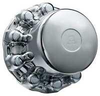 Alcoa 087100b Rear Hub Cover, 33mm, Chrome on Sale
