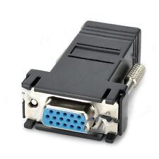 ADATTATORE CONVERTITORE DA VGA FEMMINA A LAN VGA TO LAN CAT 5 5e RJ45