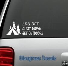 A1053 TENT CAMPING DECAL STICKER for Car Truck SUV 4X4 Van BOAT LAPTOP WALL ART