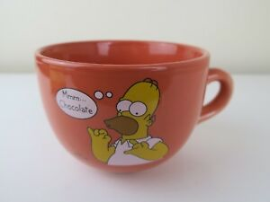 The-Simpson-039-s-Homer-Mmm-Chocolate-Giant-Orange-Ceramic-Tea-Cup-China-Mug-Cup