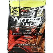 MuscleTech Nitrotech Whey Isolate Peptides Protein Powder Milk Chocolate - 10lb