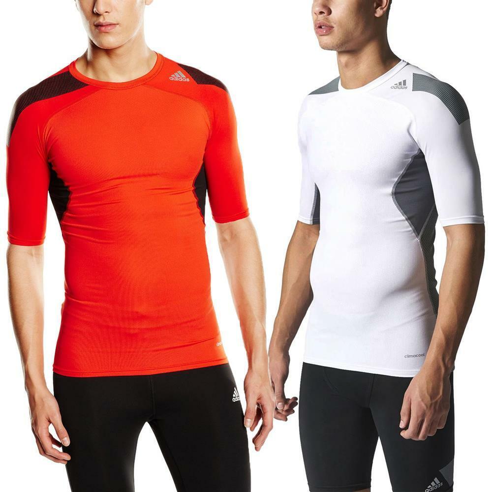 Adidas Techfit Cool Manches Courtes T-shirt Fonction Shirt Sport Shirt De Compression Shirt-irt Fr-frafficher Le Titre D'origine