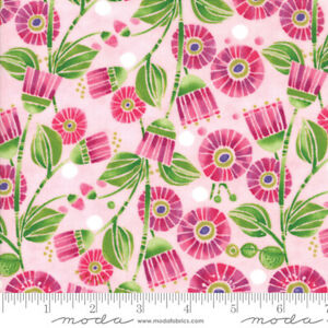 Moda-Sweet-Pea-Lily-Primrose-48641-18-100-Cotton-Quilting-Fabric-44-034-W-SBY