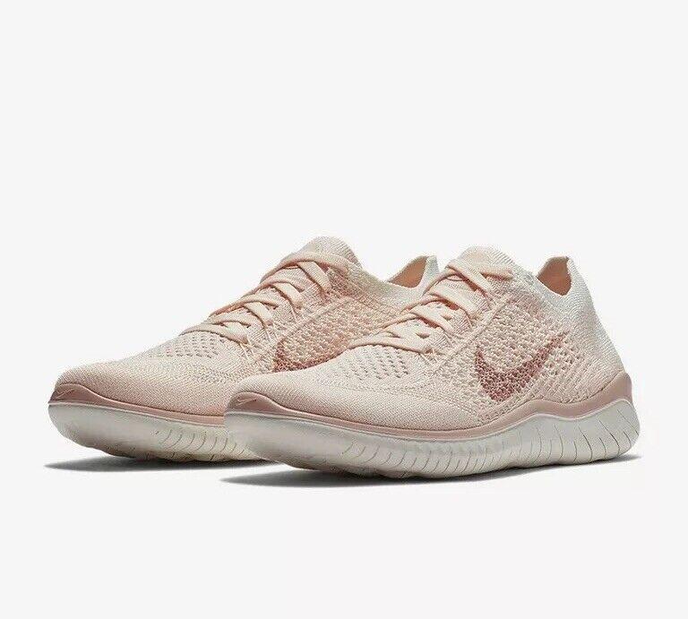 Nike Free RN Flyknit 2018 Running 942839-802 Guava Ice UK 8.5 EU 43 28cm New