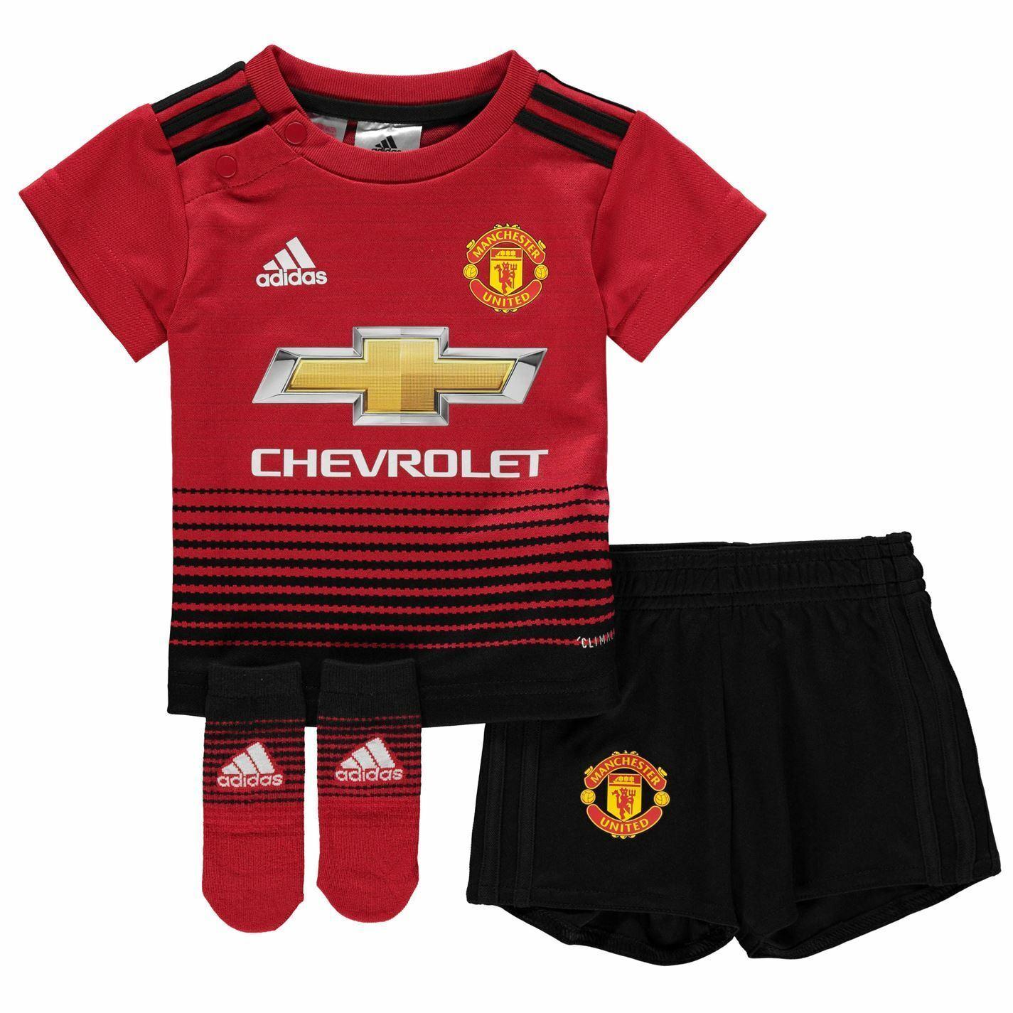 Adidas Manchester United Casa Bambino Kit 2018 19 Neonati rojo Calcio Strip
