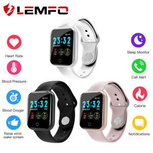Lemfo-I5-Hombre-Mujer-Ritmo-cardiaco-Podometro-reloj-inteligente-Android-IOS