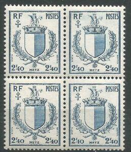 FRANCE-Bloc-de-4-n-734-Neuf-luxe-MNH-1945