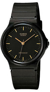 Casio-MQ-24-1E-Analog-Watch-Black-and-Gold-Classic-Resin-Band-NEW