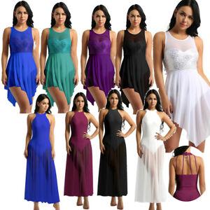 Women-Sequins-Lyrical-Dress-Contemporary-Ballet-Dance-Costume-Leotard-Unitards