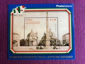 REPUBBLICA-2011-FOGLIETTO-150-UNITA-039-D-039-ITALIA-EMISS-CONG-VATICANO-NUOVO