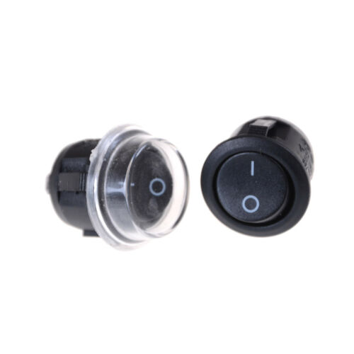 Waterproof Cover RSRDUJ 5x Car 12V Round Boat Toggle SPST ON//OFF Switch