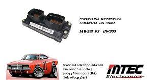 ECU Fiat 12 Monaten Garantiert Iaw 59F P3 HW303