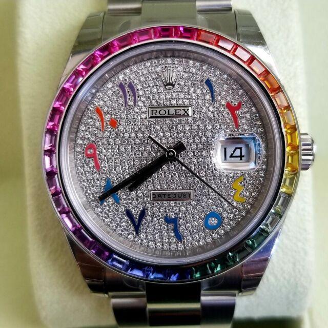 2020 Rolex Datejust 126300 Diamond Dial New Steel Custom