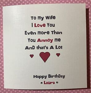 Image Is Loading Funny Cheeky Happy Birthday Card Husband Wife Boyfriend
