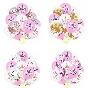 15pcs-Licorne-confettis-ballons-latex-12-034-Anniversaire-Mariage-Fete-Decoration