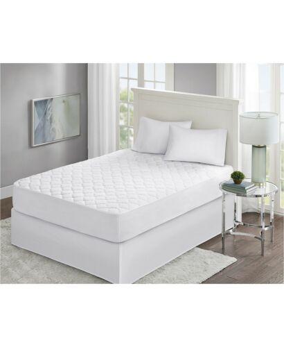 FULL White Beautyrest Premier Comfort Pinsonic Knit Geometric Mattress Pad