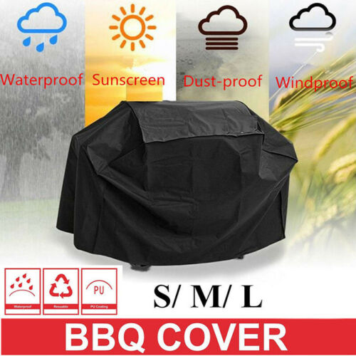 S L XL Waterproof BBQ Barbeque Gas Grill Cover Heavy Duty Rain Snow Protector UK