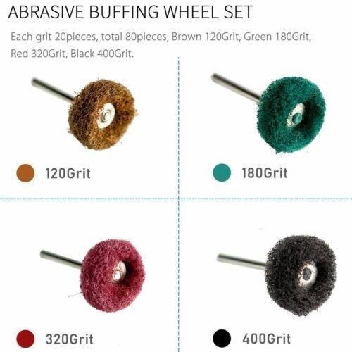 20-80X 25mm Abrasive Grinder Wheel Buffing Polishing Grinding Dremel Rotary Tool