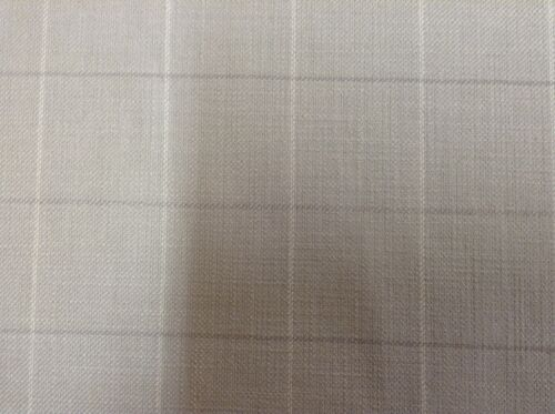 Kestrel Heavy Linen Ghost Check Dove Grey Curtain//Craft// Upholstery Fabric