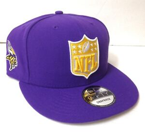 f8f1e07420e MINNESOTA VIKINGS NFL LOGO SNAPBACK HAT Purple Yellow NEW ERA 9FIFTY ...