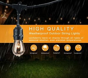 Image Is Loading 2pack Dimmable 48ft Outdoor String Lights For Patio